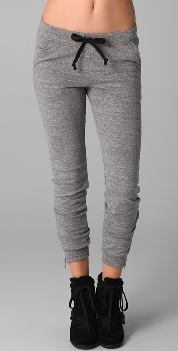 291 Slim Sweats with Zipper