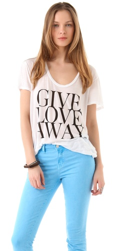 291 Give Love Away Uneven Hem Tee
