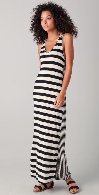 291 Racer Back Keyhole Maxi Dress