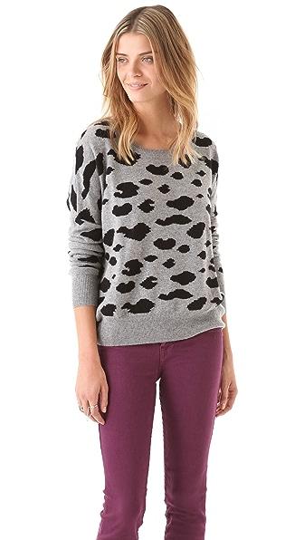 291 Cheetah Cashmere Pullover