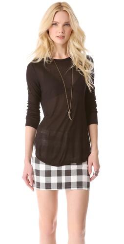 Kupi 291 Long Sleeve Uneven Hem Tee i 291 haljine online u Apparel, Womens, Tops, Tee,  prodavnici online