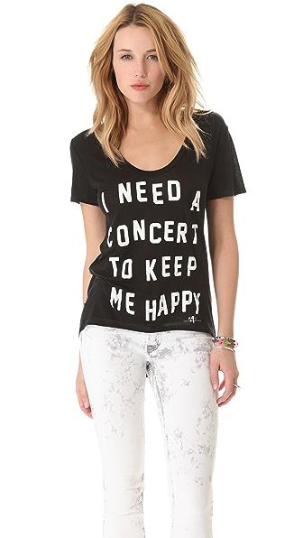 291 Concert Uneven Hem Tee
