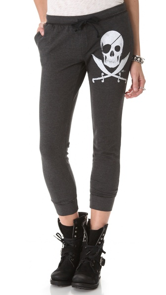 291 Pirate Skull Fitted Track Pants