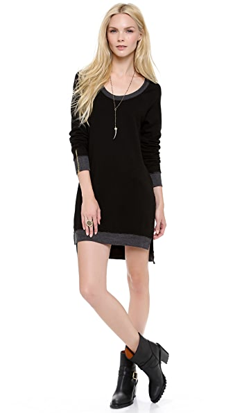291 Long Sleeve Uneven Hem Dress