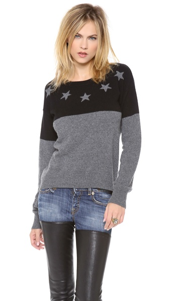 291 Neck Star Cashmere Pullover