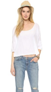 291 Cropped Boxy Drop Shoulder Tee