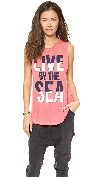 291 Live by the Sea Muscle Tee