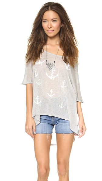 291 Anchors Oversized Tunic