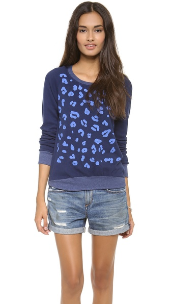 291 Leopard Long Sleeve Pullover