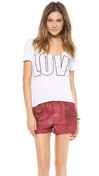 291 Love Short Sleeve Uneven Hem Tee