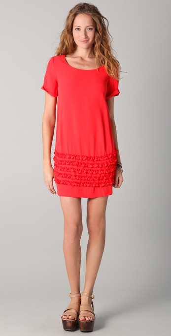 TEXTILE Elizabeth and James Ruffle Bateau Dress