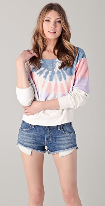 TEXTILE Elizabeth and James Tie Dye Perfect Sweatshirt