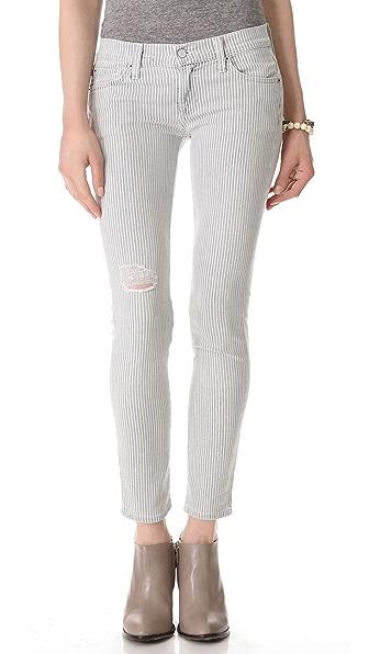 TEXTILE Elizabeth and James Ozzy Destructed Striped Skinny Jeans