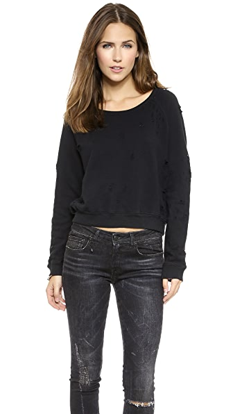 TEXTILE Elizabeth and James Distressed Perfect Sweatshirt