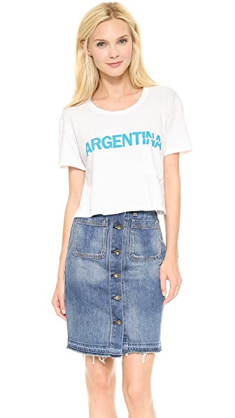 TEXTILE Elizabeth and James Cropped Argentina Tee