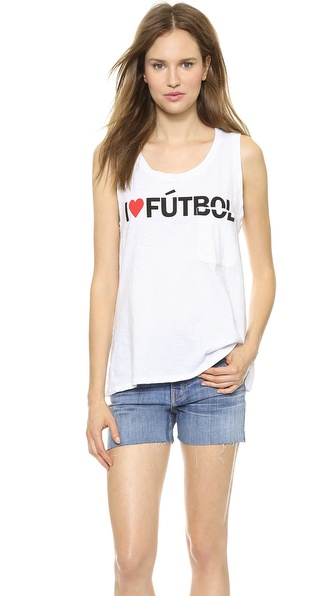 TEXTILE Elizabeth and James I Heart Futbol Dean Tank