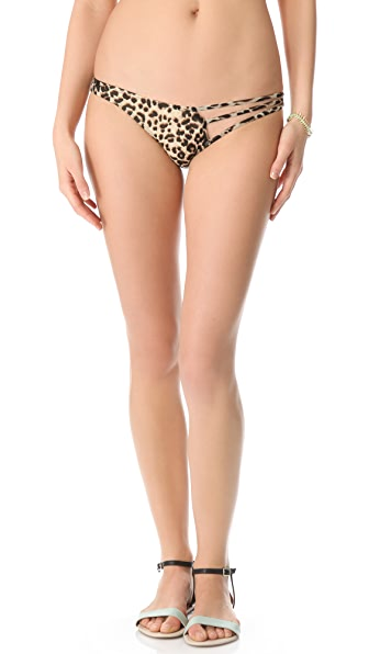 Tyler Rose Swimwear Beauty & The Beast Leopard Bikini Bottoms