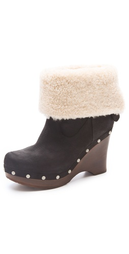 UGG Australia W Carnagie Clog Wedge Booties at Shopbop.com