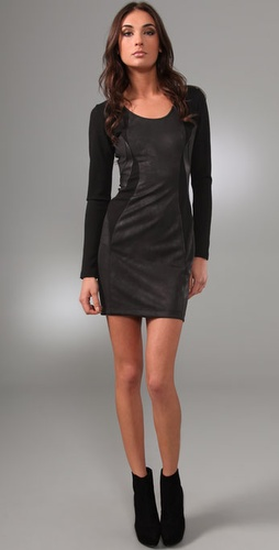 under.ligne by doo.ri Long Sleeve Seamed Dress