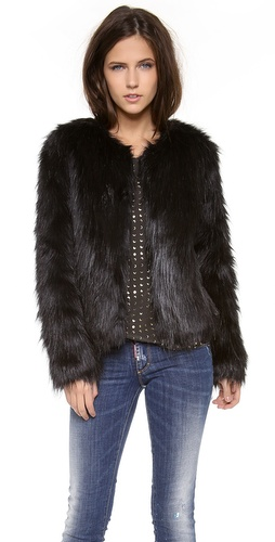Unreal Fur Furry Floss Faux Fur Jacket