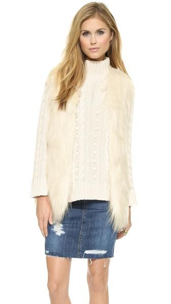 Unreal Fur Fur Play Vest - Ivory