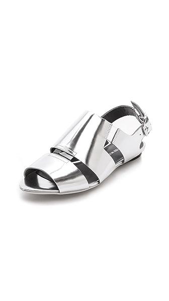 United Nude Kim Low Metallic Flat Sandals