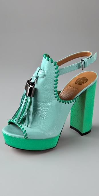 VIKTOR & ROLF Tassel Platform Sandals