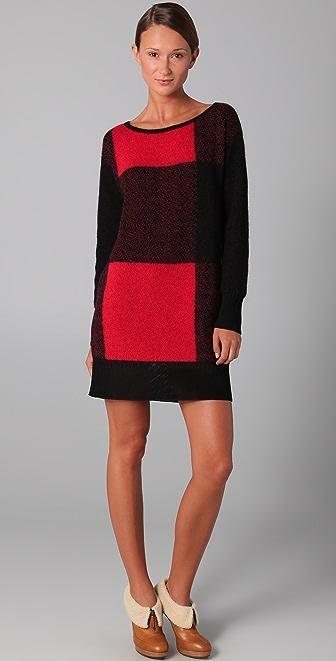 VIKTOR & ROLF Plaid Sweater Dress