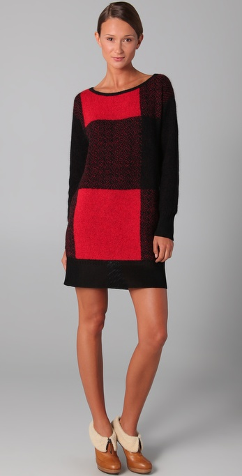 VIKTOR & ROLF Plaid Sweater Dress