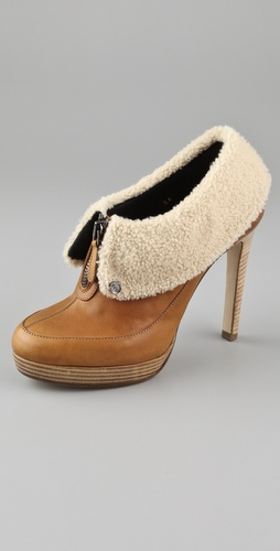VIKTOR & ROLF Shearling Cuff Platform Booties