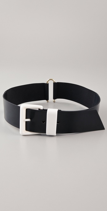 VIKTOR & ROLF Patent Faux Leather Belt