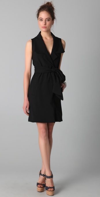 VIKTOR & ROLF Belted Dress with Collar