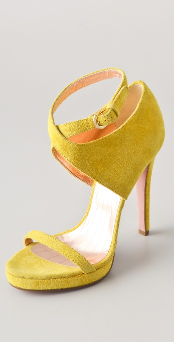 VIKTOR & ROLF Suede High Heel Sandals