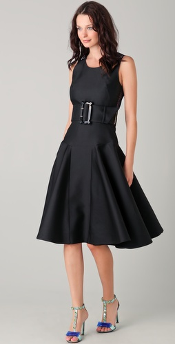 VIKTOR & ROLF Full Skirt Dress with Belt