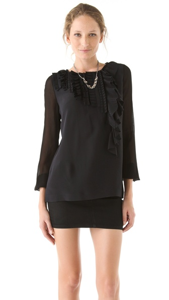 VIKTOR & ROLF Ruffle & Bow Back Blouse