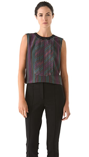 VIKTOR & ROLF Sleeveless Printed Blouse