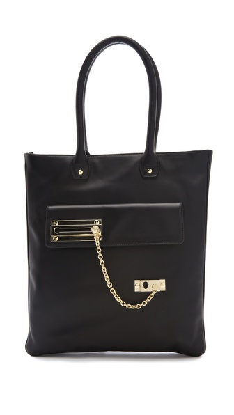 VIKTOR & ROLF Lock & Chain Tote Bag
