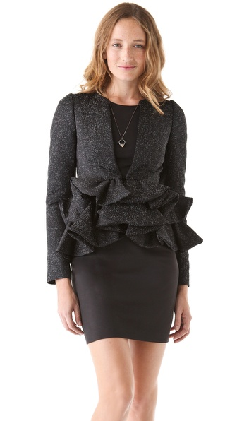 VIKTOR & ROLF Jacquard Peplum Jacket
