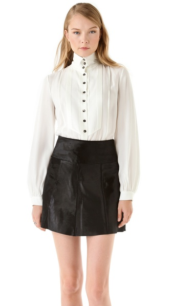 VIKTOR & ROLF High Collar Tuxedo Blouse