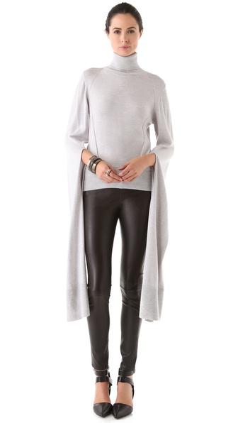 VIKTOR & ROLF Slit Exaggerated Sleeve Turtleneck Sweater