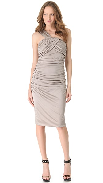 VIKTOR & ROLF Draped One Shoulder Dress
