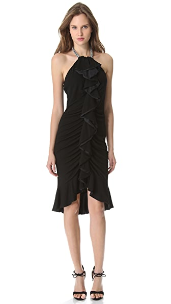 VIKTOR & ROLF Halter Ruffle Dress