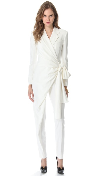 VIKTOR & ROLF Long Sleeve Bow Jumpsuit