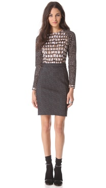 VIKTOR & ROLF Long Sleeve Jersey Dress