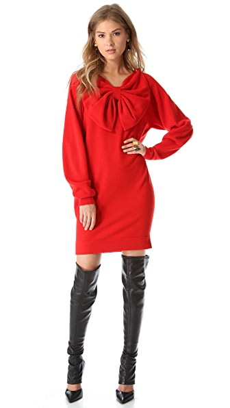 VIKTOR & ROLF Long Sleeve Bow Dress