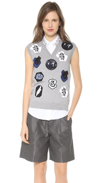 VIKTOR & ROLF Sleeveless Sweater with Patches