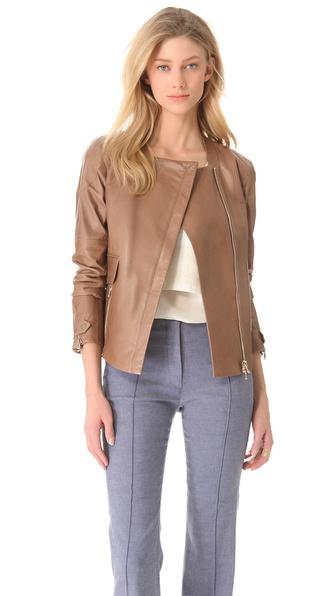 Veronica Beard The Motorway Leather Jacket