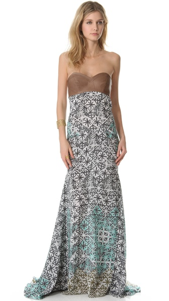 Veronica Beard The Bustier Maxi Dress