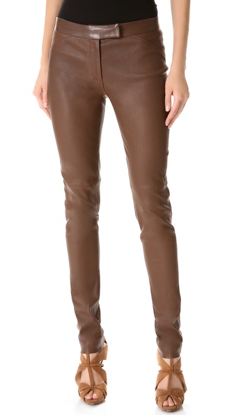Veronica Beard Stretch Leather Pants