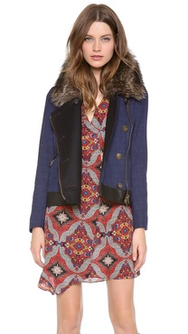 Veronica Beard Wool Denim Jacket